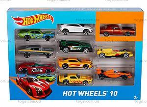 Автомобиль Hot Wheels базовый, 10 штук, 54886