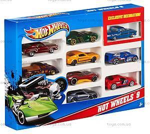 Автомобиль Hot Wheels базовый, 10 штук, 54886, отзывы