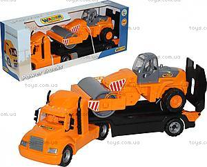Автомобиль-трейлер с дорожным катком , 55712