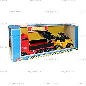 Автомобильный набор «Трейлер и трактор-погрузчик», 36865