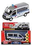 Металлическая машина FORD Transit «Полиция», SB-18-18-P-WB, купить