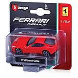 Металлическая машинка Ferrari, 1:64, 18-56000, фото