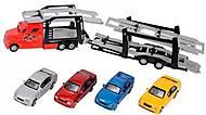 Автотранспортер с 4 машинками, 374 5000-1