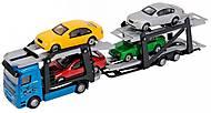 Автотранспортер синий с 4 машинками, 374 5000-2, фото