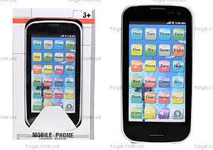 Детский айфон черного цвета на планшете, HK861