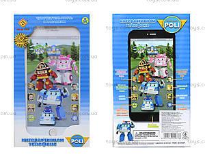 Детский телефон айфон «Робокар Поли», JD-002P