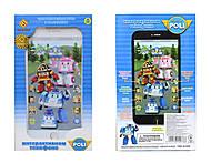 Детский телефон айфон «Робокар Поли», JD-002P, купить
