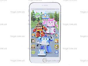 Детский телефон айфон «Робокар Поли», JD-002P, отзывы