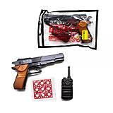 """Пистолет """"Beretta B60"""" с пистонами и рацией, 252, отзывы"""