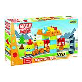 Baby Blocks .Мои первые кубики.Железная Дорога,58 элементов, 41470