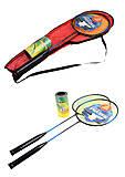 Бадминтон 2 ракетки 62 см, в чехле, цвета в ассортименте, FB18097, купить
