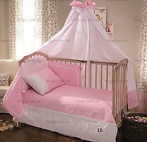 Балдахин на кроватку Sweet, розовый, 0181 S-10