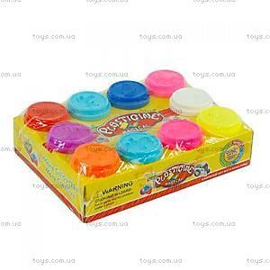 Баночки с тестом для лепки в кульке, 9230