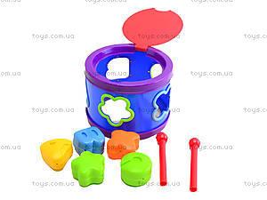 Детский барабан с фигурками «Логика», 58801S, фото