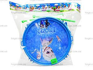 Детский барабан Frozen, 8699, детские игрушки