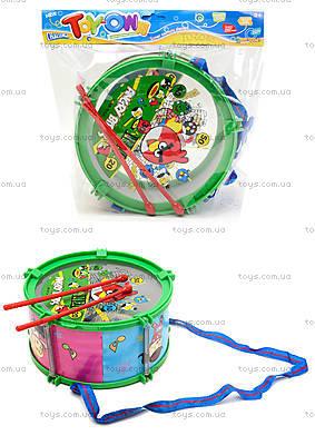 Музыкальный барабан с веревочкой в пакете, 688-51A