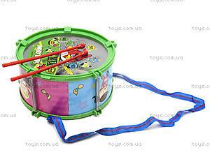 Музыкальный барабан с веревочкой в пакете, 688-51A, игрушки