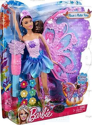 Барби Фея «Цветочное превращение», фиолетовая, W2969, купить