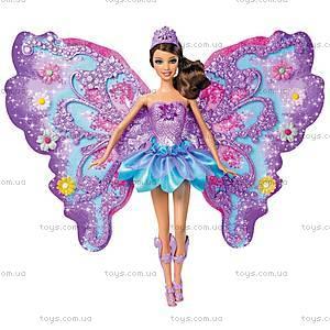 Барби Фея «Цветочное превращение», фиолетовая, W2969