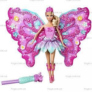Барби Фея «Цветочное превращение», розовая, W2969, купить