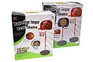 Набор Баскетбольное кольцо со стойкой и дартс, WT666, игрушки