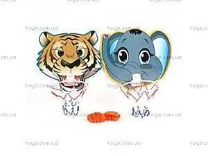 Баскетбольное кольцо с тигром и слоником,