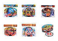 Баскетбольный набор (корзина, сетка мяч), 4 вида, 810-820, фото