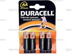 Батарейка AA, Duracell, LR-06 BL4, купить