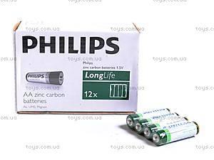 Батарейка AA, 4 штуки, Philips, R-06