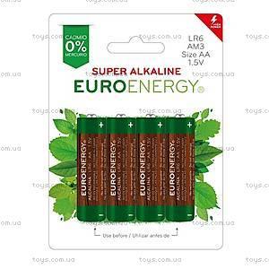 Батарейка AA Super Alkaline (LR6), 4 штуки, LR6-BP4