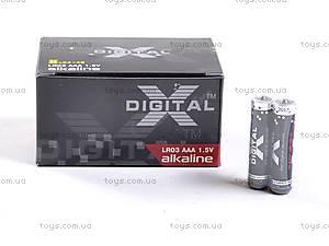 Батарейка AAA, 2 штуки, X-Digital, LR-03