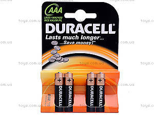 Батарейка AAA, Duracell, LR-03 BL4, купить
