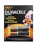 Батарейка DURACELL LR03 (ААА) (упаковка 2шт), 5007412, оптом