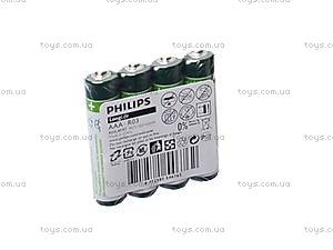 Батарейка Philips AAА, R-03, купить