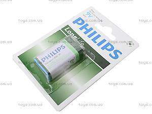 Батарейка Philips Крона, 6F22, купить