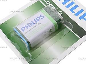 Батарейка Philips Крона, 6F22, фото