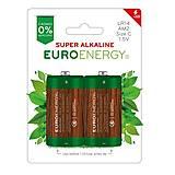 Батарейка SUPER ALKALINE LR14, 2 штуки в блистере, LR14-BP2, фото