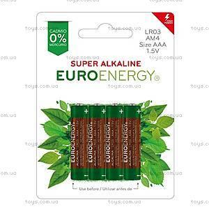 Батарейка AAA Super Alkaline (LR03), 4 штуки, LR03-BP4