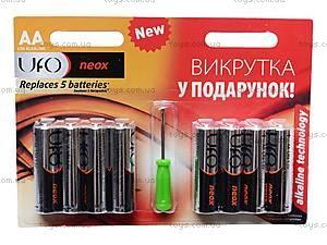 Батарейки AA UFO Neox с отверткой, LR-06 BL8+