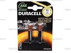 Батарейки Duracell ААА, LR-03 BL/2