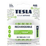 Батарейки аккумуляторные TESLA AAA GREEN+ RECHARGEABLE (HR03), 4 штуки , AAA RECHARGEABLE+, фото