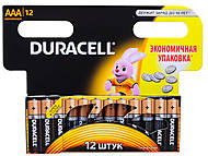 Батарейки, Duracell ААА, LR-03 BL12, купить