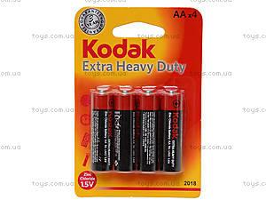 Батарейки Kodak AA, 4 штуки в блистере, R-06 BL4
