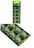Батарейки таблетка  AG13 VIDEX (1шт), AG13, купить