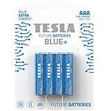 Батарейки TESLA BATTERIES AAA BLUE+ (R03), 4 штуки, AAA BLUE+