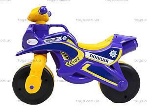 Детская каталка-мотоцикл «Полицейский байк», 0139550, купить