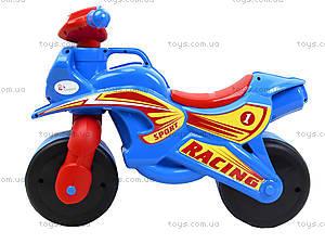 Яркая детская каталка «Спортивный байк», сине-красный, 013940, цена