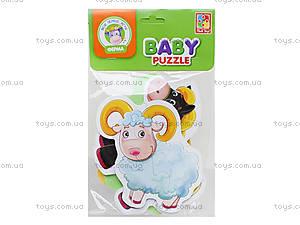 Беби пазлы для детей «Ферма», VT1106-51, игрушки