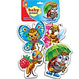 Беби пазлы «Забавные насекомые», VT1106-06