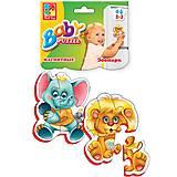 Беби пазлы «Зоопарк», VT1106-10